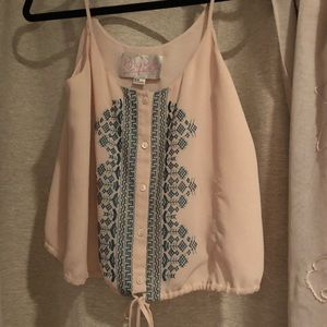 RoryBeca tank top with embroidered design
